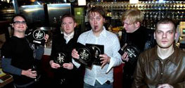 Kent wins 7 Grammi awards 2003. Photo from Aftonbladet.