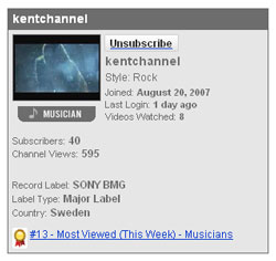 ingenting 13th most viewed on yotube