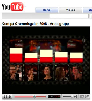 Kent wins Group of the year at the 2008 Grammis gala